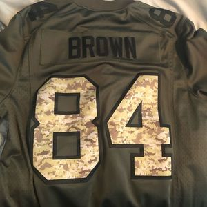 Antonio Brown 84 Steelers Salute to Service Jersey